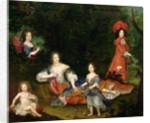 Portrait of Francoise-Athenais de Rochechouart-Mortemart Marquise de Montespan, surrounded by her legitimated children by French School