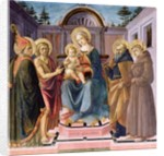 Madonna and Child Enthroned with SS. Zenobius, John the Baptist, Anthony Abbot and Francis by Francesco di Stefano Pesellino