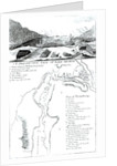 A Perspective View of Lake George and a Plan of Ticonderoga by American School