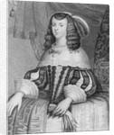 Portrait of Catharine of Braganza engraved by Freeman by English School