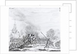 Retreat from the Battle of Worcester by English School