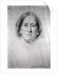 First Study for the Portrait of George Eliot (Mary Ann Evans) by Samuel Laurence