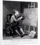 Self Portrait Painting the Comic Muse by William Hogarth
