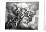 Apotheosis of Charles I engraved by B.Baren by M Vanderbank