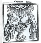 Witches Making a Spell by German School