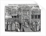 Hugh Latimer Preaching before King Edward VI at Westminster in 1547 by English School
