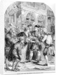 Change Alley during the phrenzy of the South Sea Bubble by English School