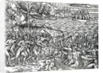 War scene, Brazil by French School