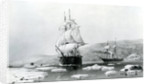 HMS Assistance and Pioneer breaking out of Winter quarters in 1854 by English School