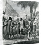 An Indian Cacique of the island of Cuba addressing Columbus concerning a future state by Benjamin West