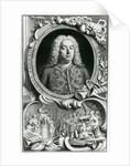 Portrait of George Frederick Handel by Jacobus Houbraken
