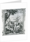 The First Interview of Christopher Columbus with the Natives of America by British School