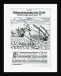 Four Sailing Boats from 'India Orientalis' by Theodore de Bry