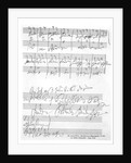 A page of music from the 'Biography of L. van Beethoven' by Anton Schindler by Ludwig van Beethoven