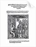 Bartolommeo de' Sacchi (Platina) writing 'Historia de Vitis Pontificum Romanorum' by Italian School