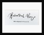 Signature of Richard III by English School