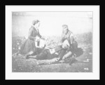 A Nurse Tending a Wounded Man in the Crimea by English Photographer
