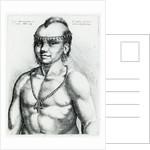 Virginian Indian by Wenceslaus Hollar