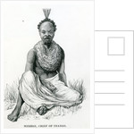Merere, chief of the Usango from 'Travels in Africa' by English School