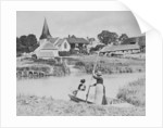 Ferry across the Arun at Bury, Sussex by English Photographer