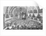 The Gathering in the Synagogue by German School