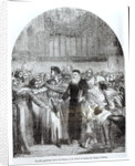 Wycliffe appearing before the Prelates at St. Paul's to answer the charge of heresy in 1377 by English School