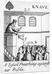 A Jesuit Preaching Against Our Bible, Jack of Spades by English School