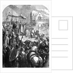 Pope Urban II Preaching the First Crusade in the Market Place of Clermont in 1095 by English School