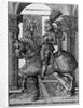 Equestrian portrait of Maximilian I by Hans Burgkmair