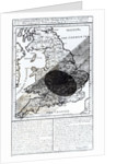 A Map Showing the Passage of the Shadow of the Moon Over England on 22 April 1715 by English School