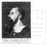 Portrait of Sir Thomas Wyatt the Younger engraved by Ogborn by Hans Holbein The Younger