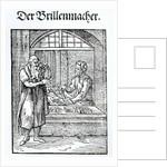 The Glasses Maker, published by Hartman Schopper by German School
