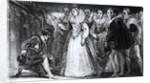 Queen Elizabeth I Knighting Francis Drake in 1581 by English School