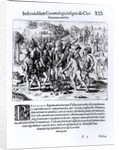 Vasco Nunez de Balboa Demonstrating the Avarice of Christians by English School