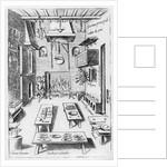 Kitchen interior by Italian School