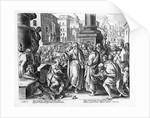 Saints Paul and Barnabas Preaching in Lystra by Jan van der Straet
