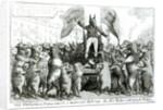 The Smithfield Parliament: Universal Suffrage by George Cruikshank
