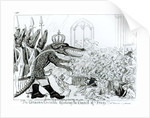 The Corsican Crocodile dissolving the Council of Frogs by English School
