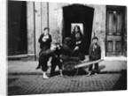 Children in a London slum by English Photographer