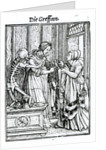 Death and the Mistress by engraved by Hans Lutzelburger