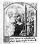 Boethius (480-524) takes counsel of Dame Philosophy, miniature from 'De Consolatione da Philosophiae', translated by Jean de Meung by English School