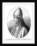 Portrait of Pope Gregory IX illustration from 'Science and Literature in the Middle Ages and the Renaissance', written and engraved by Paul Lacroix by English School
