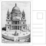 The West Prospect of St. Paul's Cathedral by English School