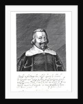 Portrait of John Pym engraved by George Glover by Edward Bower