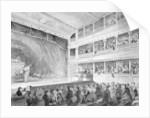 Interior of the Little Theatre, Haymarket in London by George Jones