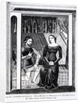Lancelot and Guinivere by illustration from 'Science and Literature in the Middle Ages and Renaissance'
