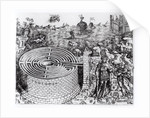 The Legend of Theseus with a detail of the Cretan Labyrinth by Italian School