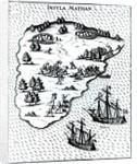 Ferdinand Magellan Fighting Natives on Mactan Island in 1521 by Portuguese School