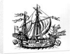 Ferdinand Magellan's boat 'Victoria', the first to circumnavigate the world by Portuguese School