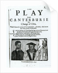 A New Play called Canterburie by English School